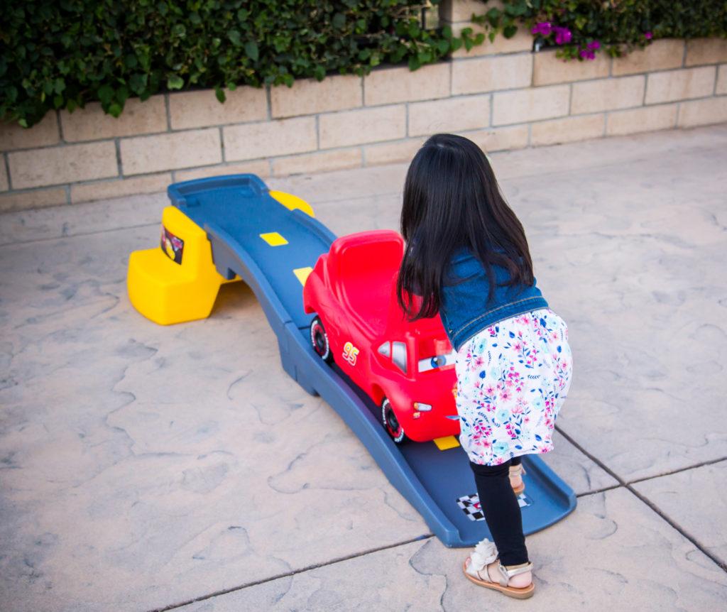 Pushing coaster car up