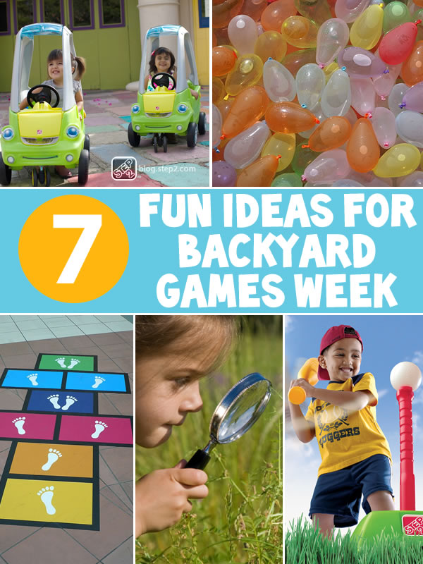 7 fun ideas for backyard games week