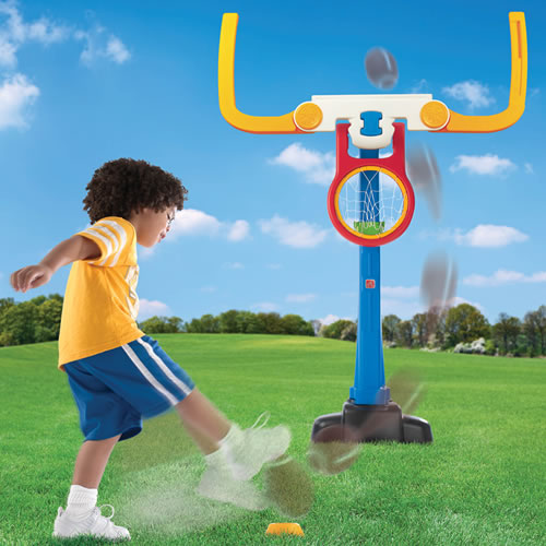 Double Play Deluxe Basketball & Football Set