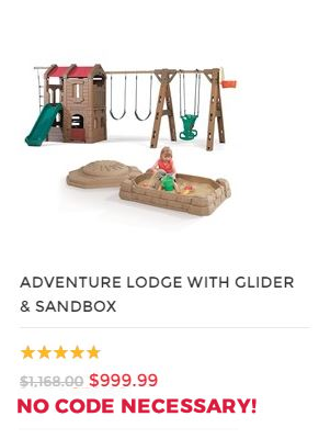 ADVENTURE LODGE PLAY CENTER WITH GLIDER AND SANDBOX COMBO.fw