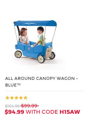 ALL AROUND CANOPY WAGON BLUE