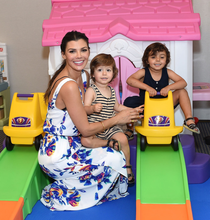 LOS ANGELES, CA - SEPTEMBER 19: Ali Landry and children attend Favored.by Presents The 4th Annual Red CARpet Safety Awareness Event at Skirball Cultural Center on September 19, 2015 in Los Angeles, California. (Photo by Stefanie Keenan/Getty Images for Favored.by)
