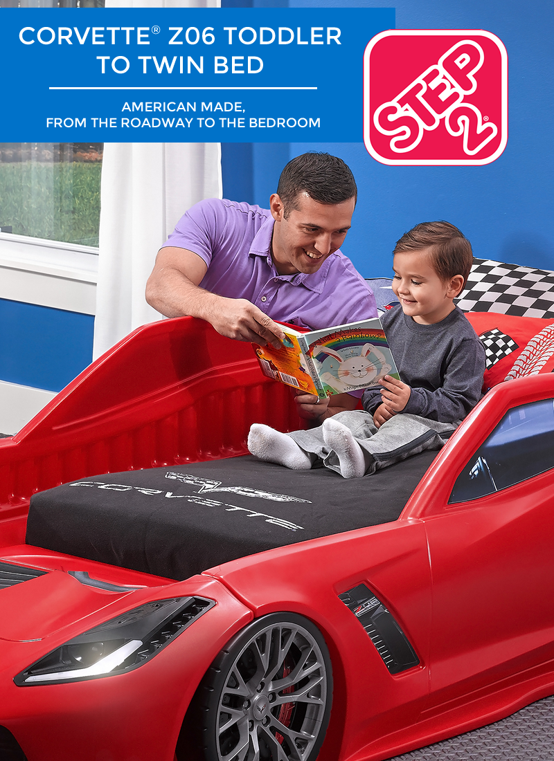 Step2 Corvette Z06 Toddler to Twin Bed | Step2 Blog