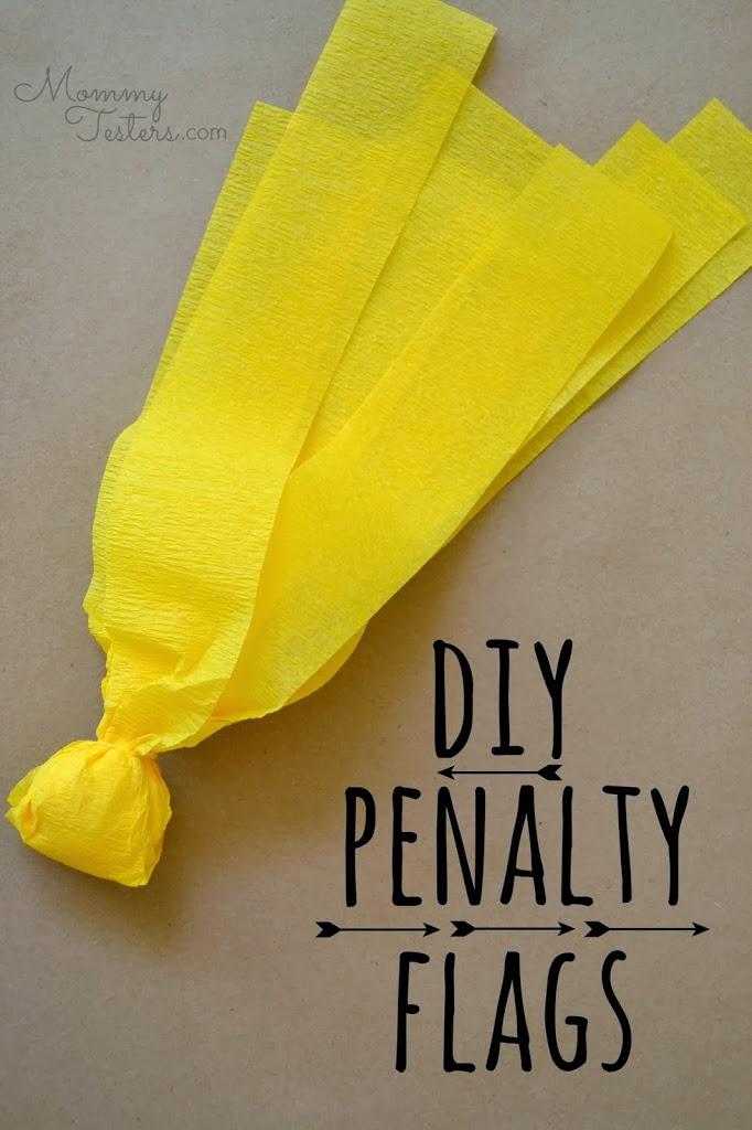 DIY Penalty Flags by Hello Splendid