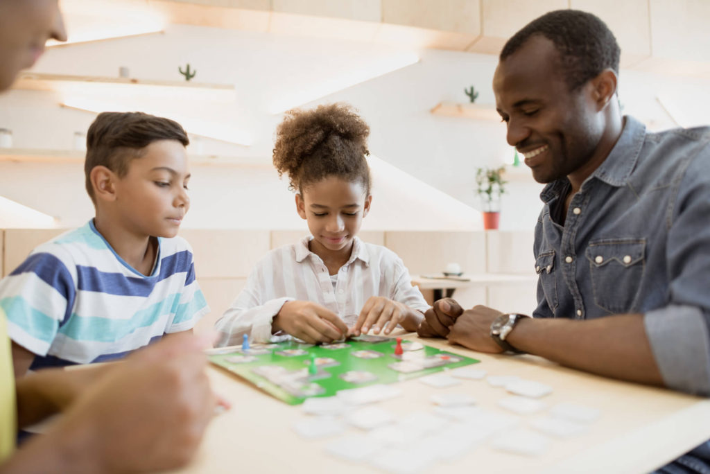 family activity playing board games