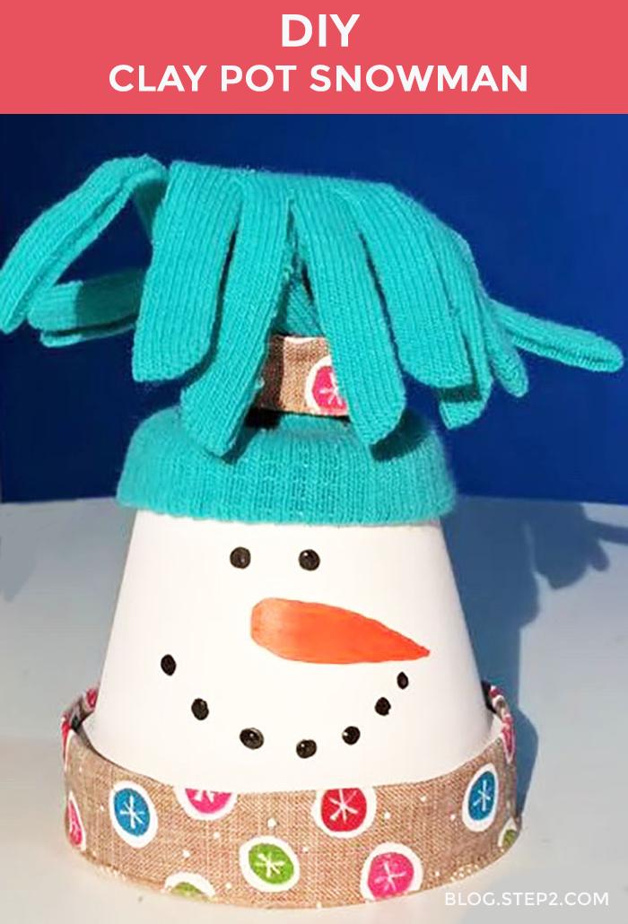 DIY Clay Pot Snowman   Step2 Blog