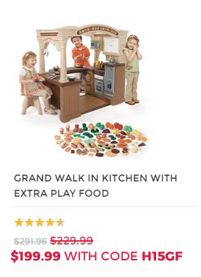 GRAND WALK IN KITCHEN WITH PLAY FOOD