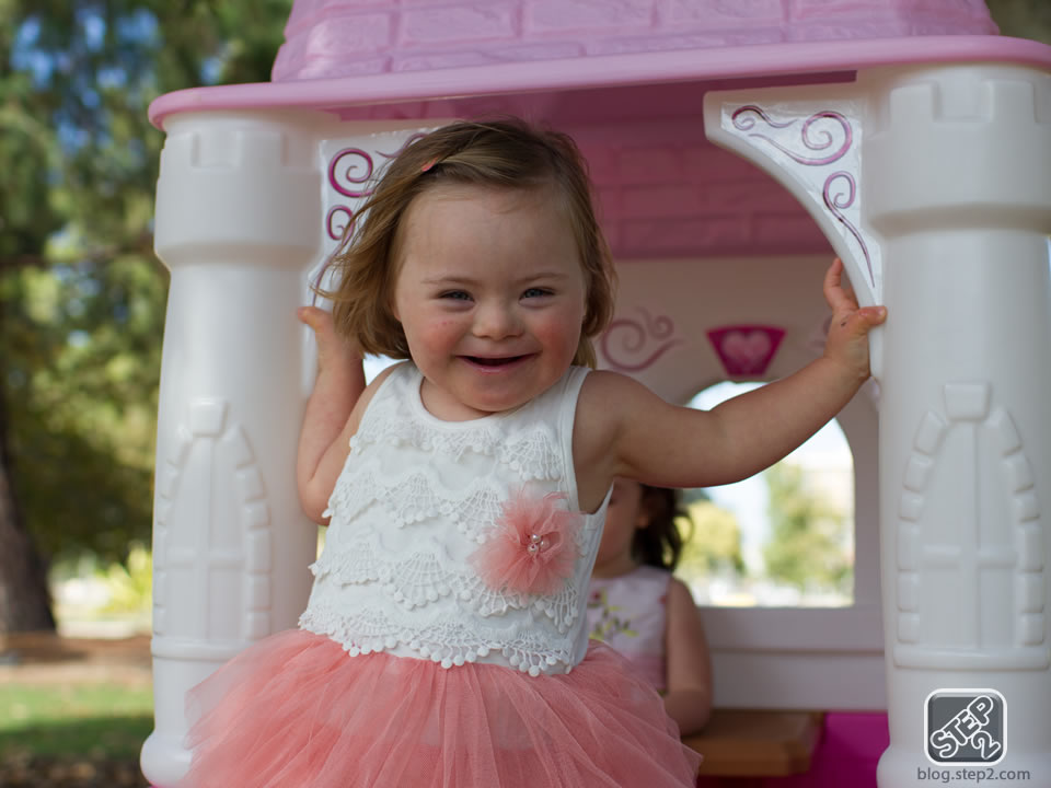 Grace in play in the Princess Castle Playhouse