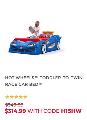 HOT WHEELS TODDLER TO TWIN BED1