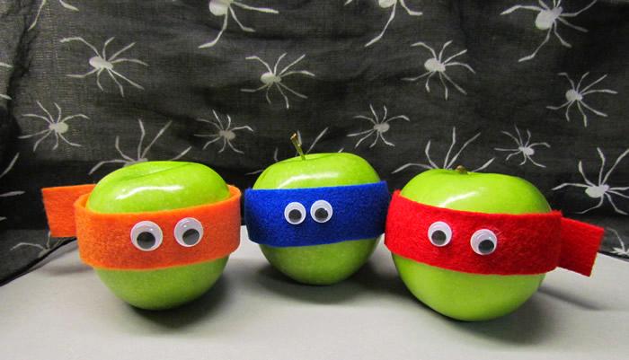 TMNT apples for Halloween