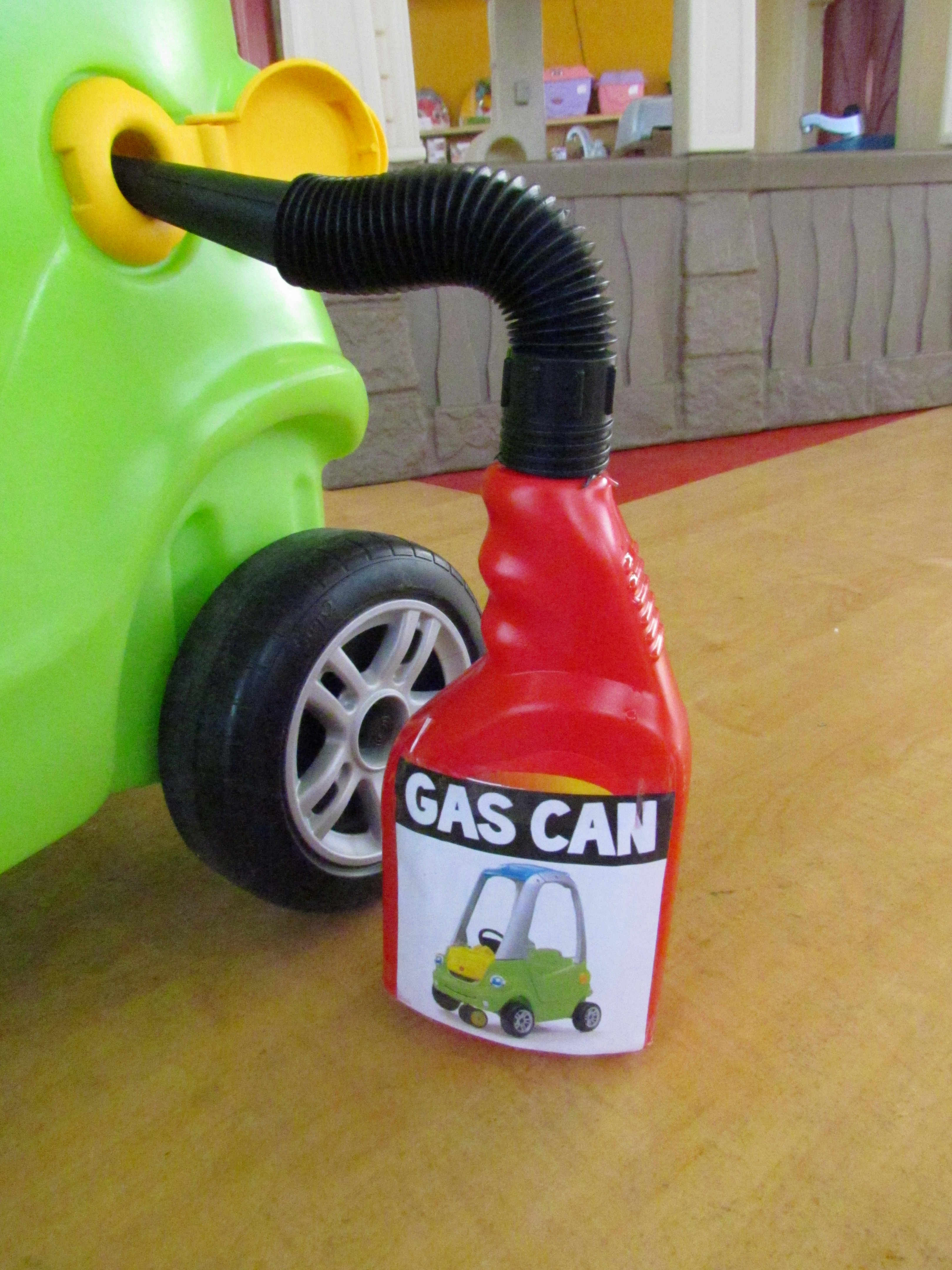 ride-on with gas can
