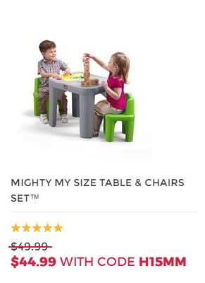 MIGHTY MY SIZE TABLE AND CHAIRS SET