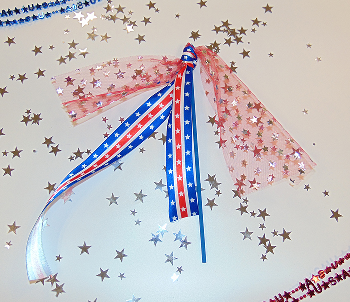 Represent the USA in style with these home made patriotic wands!