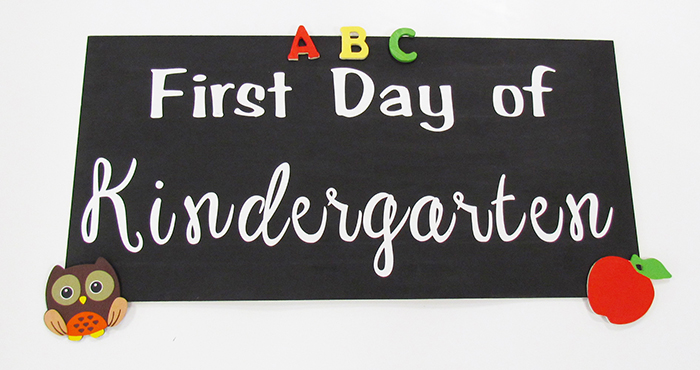 Learn how to make this First Day of School sign