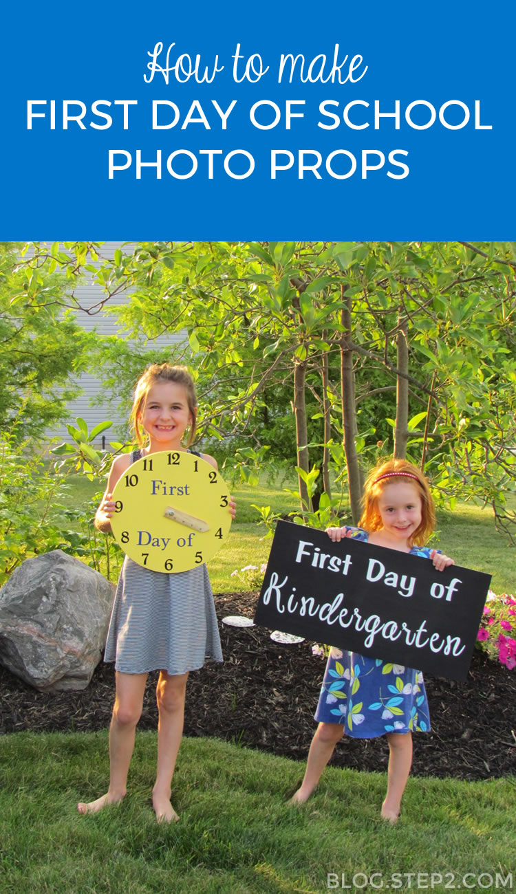 Tutorial for making first day of school signs