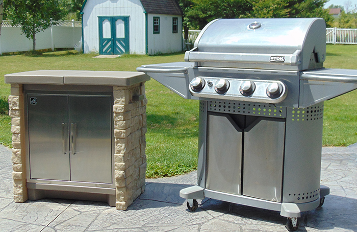 Add to your patio area with the StoneFront Cooler & Storage!