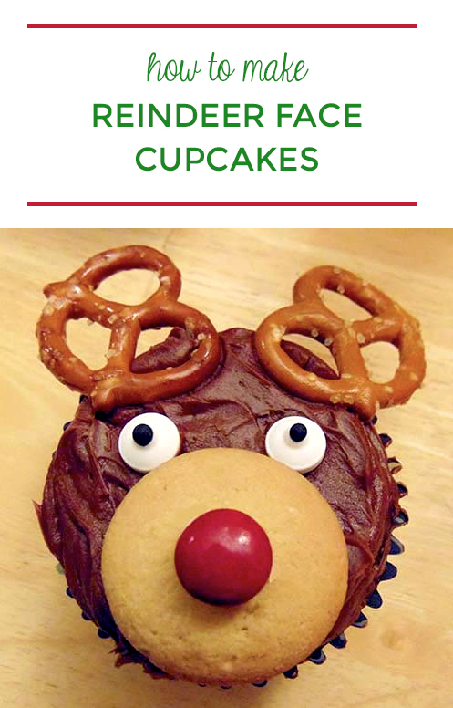 Holiday Dessert Idea - How to Make Festive Reindeer Face Cupcakes | Step2 Blog