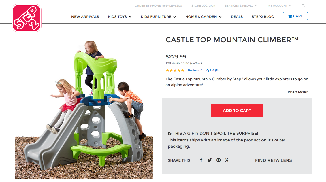 Step2 Castle Top Mountain Climber
