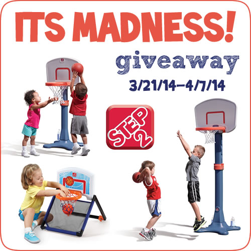 It's Madness Step2 Basketball Hoop Giveaway 3/21 - 4/7