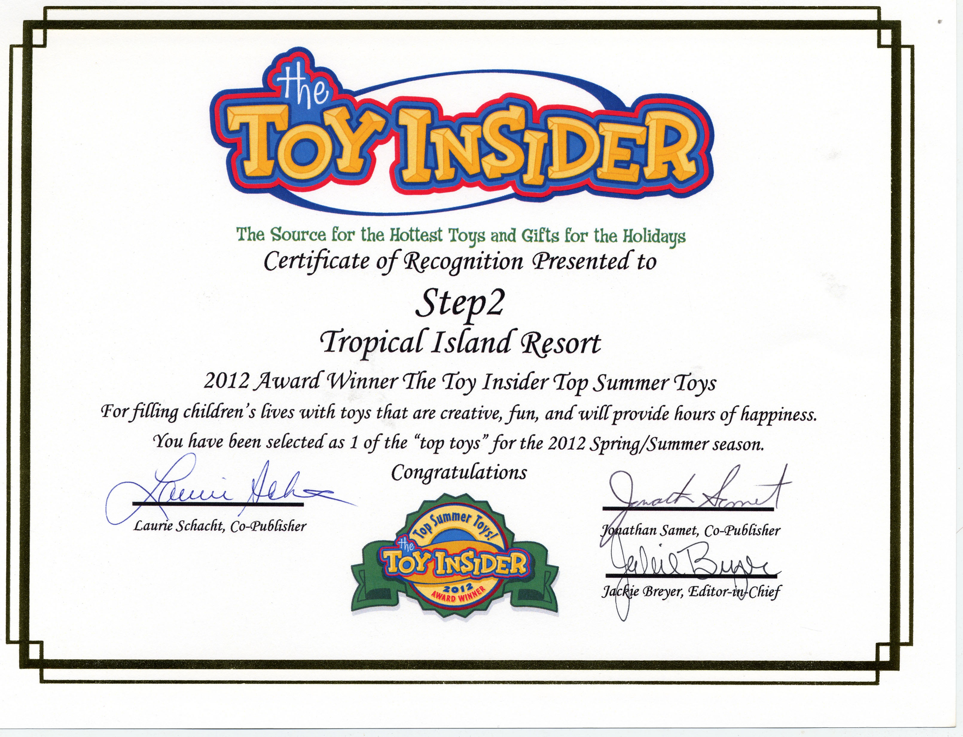 Toy Insider Award Tropical Island
