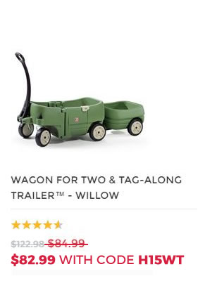 WAGON FOR TWO AND TAG ALONG TRAILER