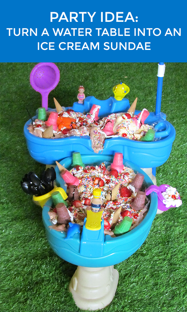Water Table Ice Cream Sundae