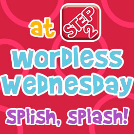 Wordless Wednesdays BUTTON splish splash