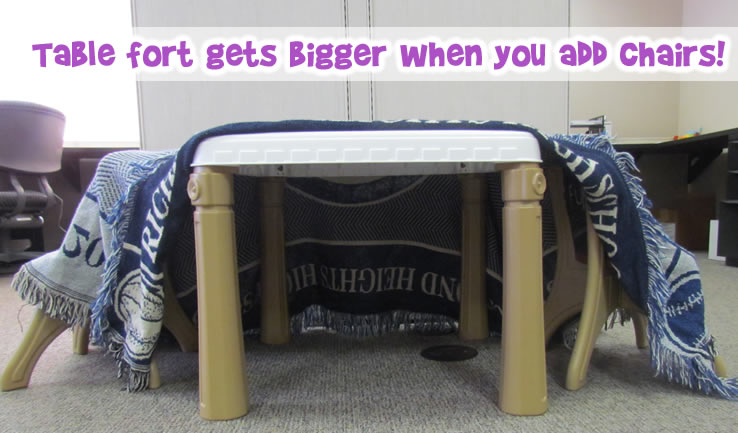 bigger table fort