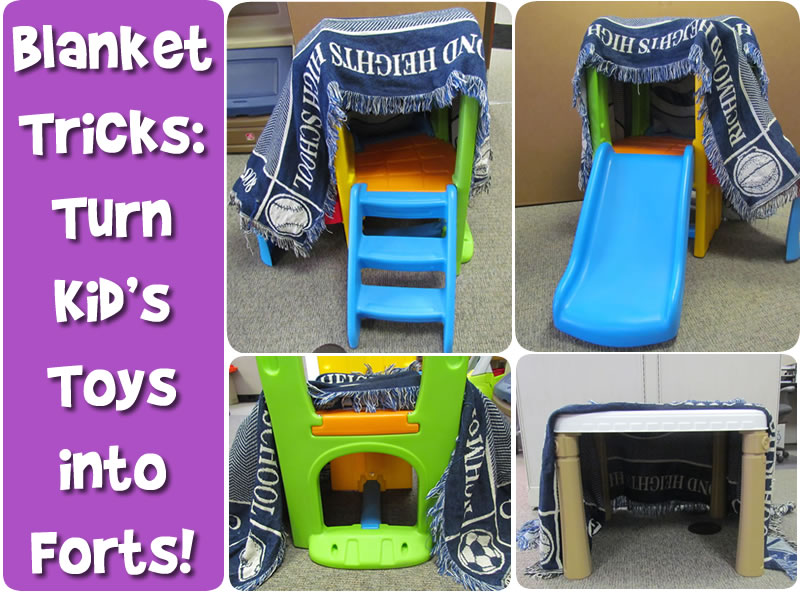 Blanket tips for imaginative play