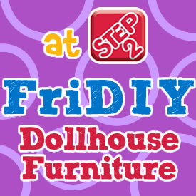 Fridiy Dollhouse Furniture Button