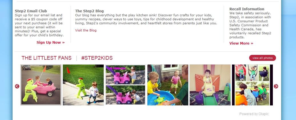Step2 homepage