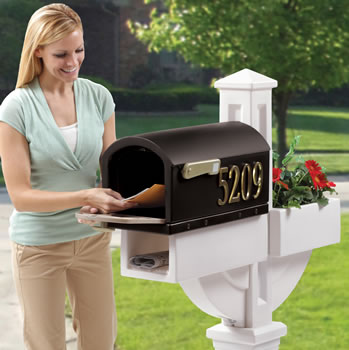 hudson mailbox with planter