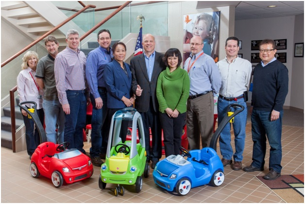 group picture with Step2 ride-on toys