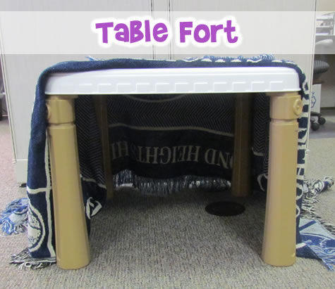 kid's table fort