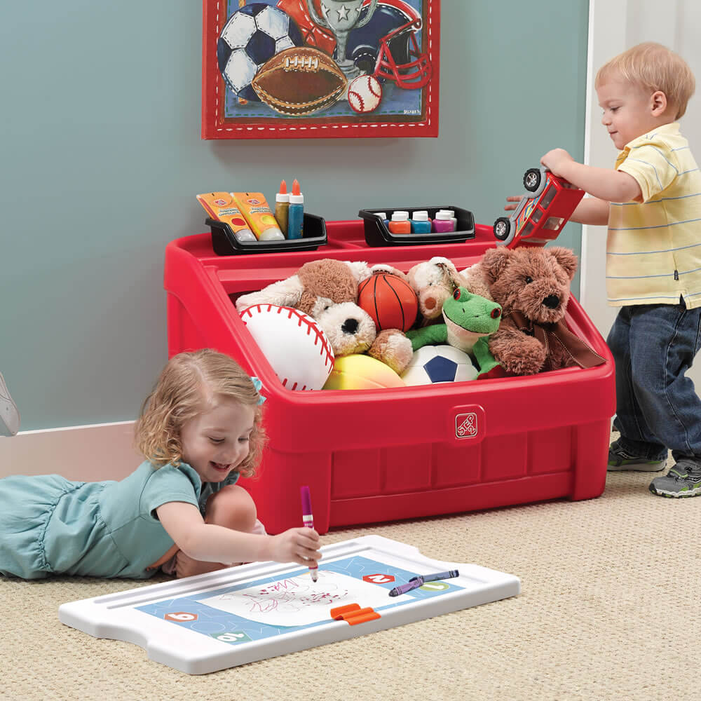 organize kids room ideas art lid