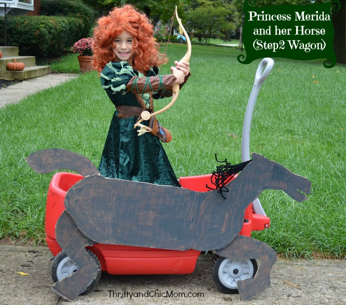 princess-merida-and-her-horse-step2-wagon