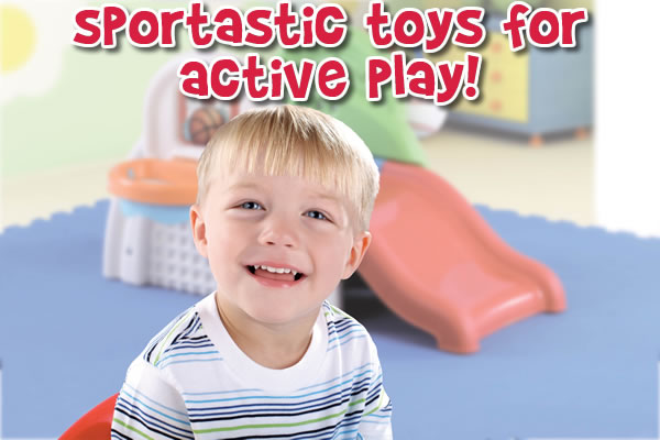Toys For Active Boys : Sports toys at step