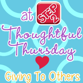 thoughtful thursday giving to others 