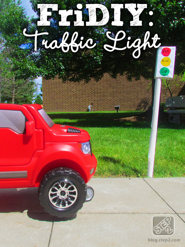 toy truck with traffic light