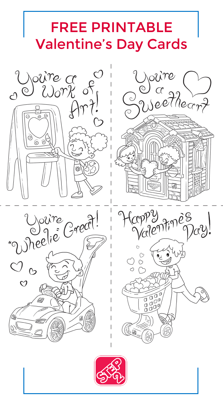 Free Printable - Valentines Day Cards from Step2