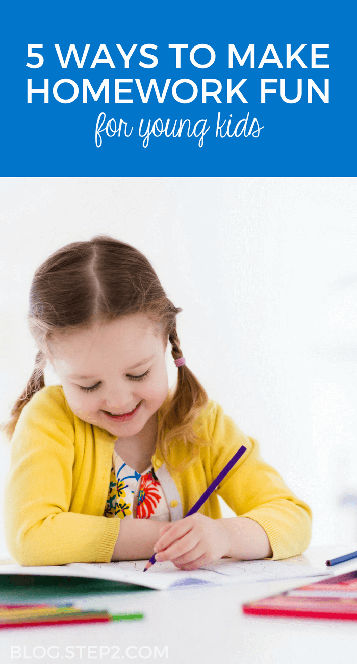 ways to make homework fun for young kids