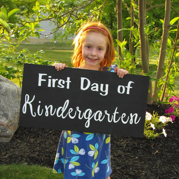 Cute 1st day of school photo signs