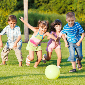 kids playing sports with ball